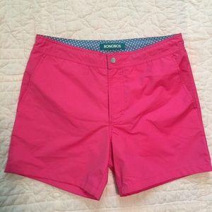 """New BONOBOS $78 Pink Surfside 5"""" Board Shorts NWOT"""